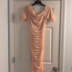Venus pink bodycon dress